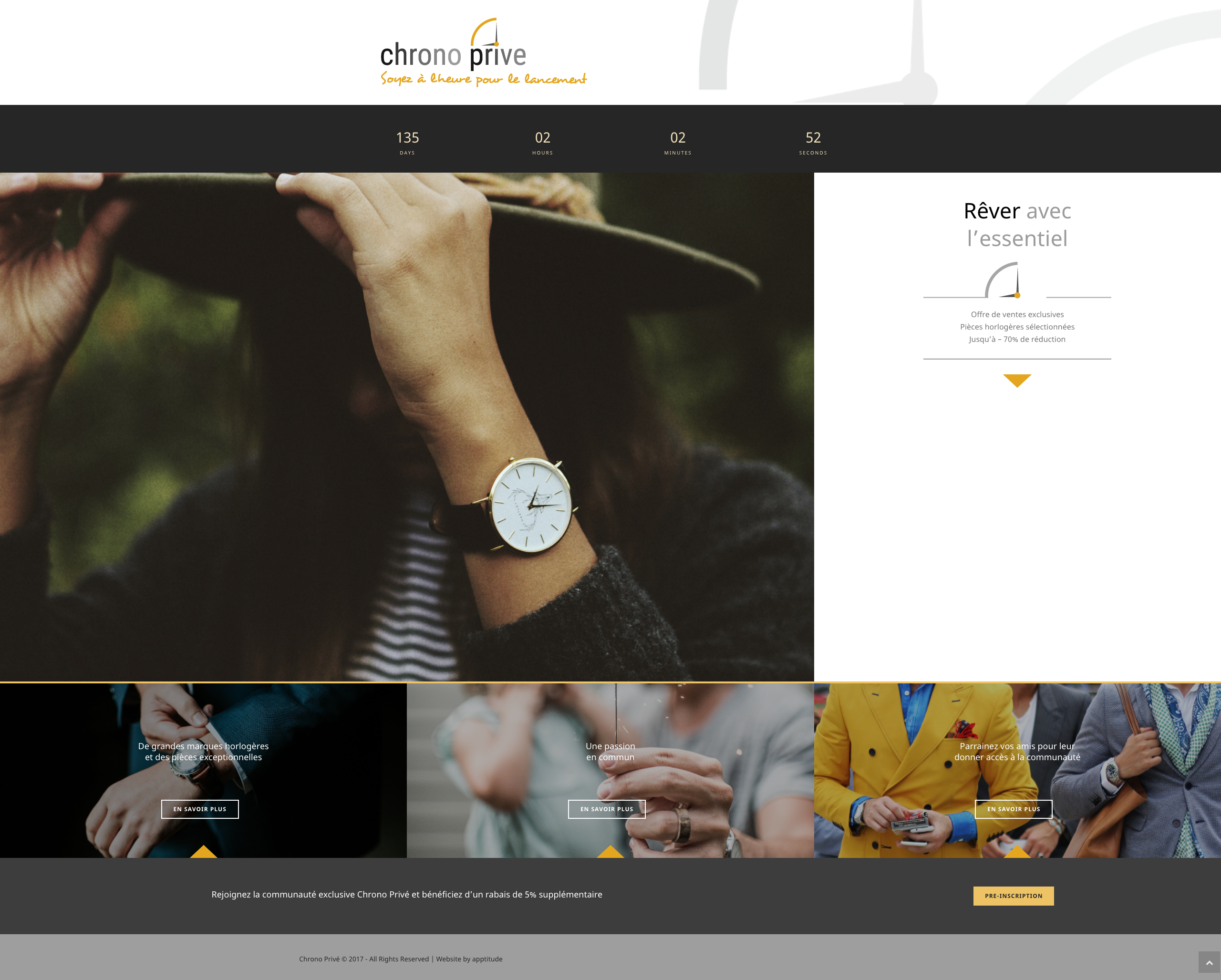Chrono Privé, online private sale of watches, created by a